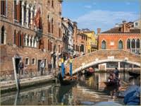 Rio del Gaffaro et le pont Marcello à Venise