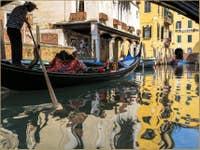 Gondole Rio de Priuli Santa Sofia à Venise
