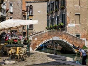 Pont et Campo Santa Maria Nova, dans le Cannaregio à Venise.
