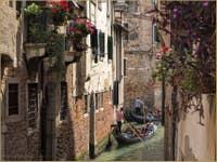 Gondoles Rio Miracoli Malibran à Venise