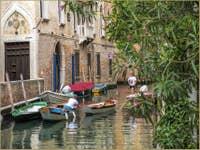 Sandoletti sur le Rio de la Panada à Venise