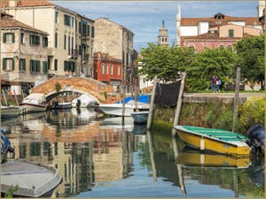 La Venise de San Nicolo dei Mendicoli et le pont de la Piova.