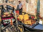 Gondoles Rio de San Felice à Venise