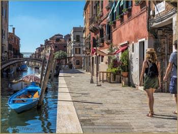 La Fondamenta dei Mori et le Rio de la Sensa, dans le Cannaregio à Venise.