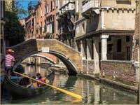Gondole Rio de Ca' Widmann à Venise