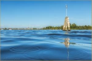 La Lagune de Venise devant l'île de le Vignole.