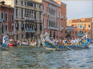 Le Cortège Historique de la Regata Storica sur le Grand Canal de Venise.