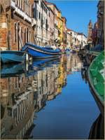 Reflets sur le Rio de San Barnaba à Venise