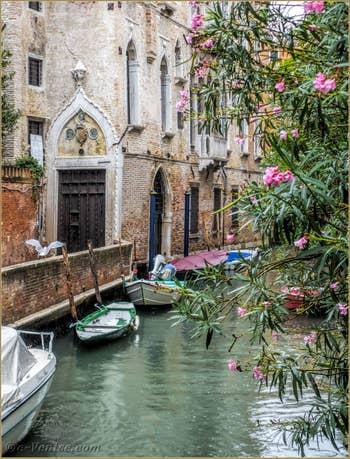 Le Rio de la Panada et  le Palais Van Axel, dans le Cannaregio à Venise.