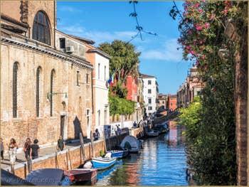 Le Rio et la Fondamenta Santa Caterina, dans le Cannaregio à Venise.