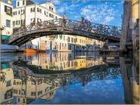 Rio de San Girolamo Pont de Gheto Novo à Venise