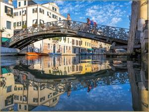 Rio de San Girolamo et le pont de Gheto Novo, dans le Cannaregio à Venise.