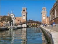 Le Rio et l'entrée de l'Arsenal de Venise