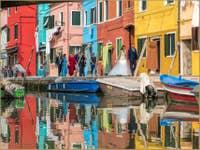 Mariage sur l'île de Burano à Venise