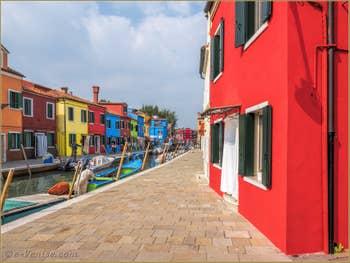 Fondamenta de la Pescheria sur l'île de Burano à Venise.
