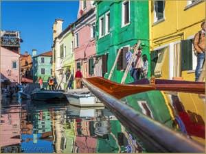Le Rio San Mauro sur l'île de Burano à Venise.