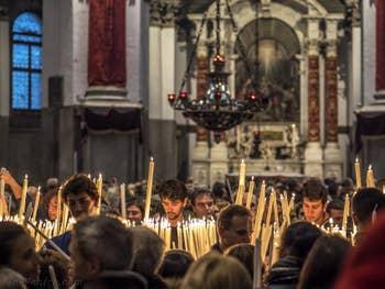 La Fête de la Madonna de la Salute à Venise.