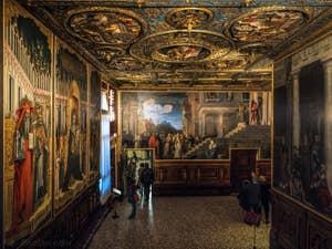 Le Musée de l'Accademia et la Sala Albergo, dans le Dorsoduro à Venise.