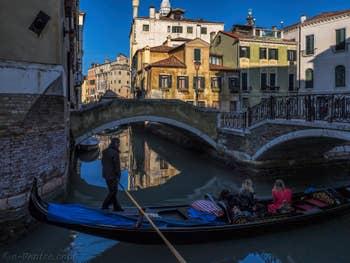 Gondole Rio del Mondo Novo, dans le Castello à Venise.