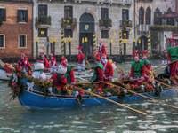 Rennes du Père Noël à Venise