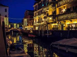 Le Rio San Vio et la Fondamenta Bragadin, dans le Dorsoduro à Venise.