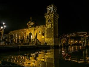 Noël à l'Arsenal de Venise, dans le Castello.