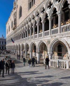 La Façade du Palais des Doges à Venise.