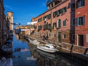 Lessive Rio et Fondamenta de la Tana, dans le Castello à Venise.