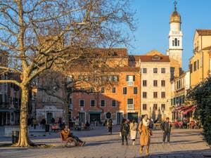 Le Campo Santa Margherita, dans le Dorsoduro à Venise.
