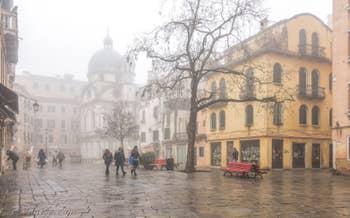 Brouillard à Santa Maria Nova, dans le Cannaregio à Venise.