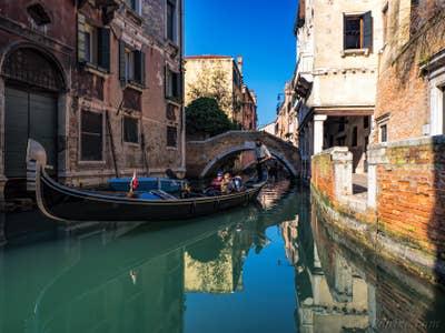 Venise en Gondole Rio de Ca' Widmann, dans le Cannaregio.