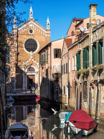 L'église de la Madona de l'Orto, dans le Cannaregio à Venise.