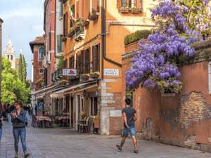 Glycine Rio Terà antonio Foscarini, dans le Dorsoduro à Venise.