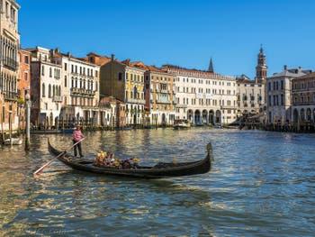 Gondola on Venice Grand Canal