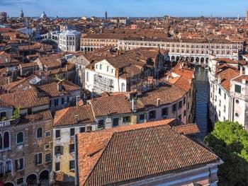 Venise Vue du Ciel, le pont du Rialto.