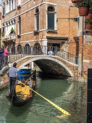 Gondole Rio de Ca'Widmann, dans le Cannaregio à Venise.