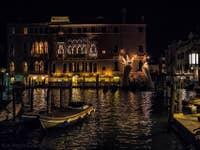 Nuit d'été sur le Grand Canal à Venise