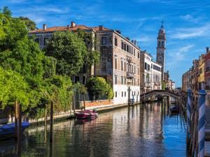Le Rio San Lorenzo dans le Castello à Venise.