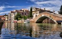 Les reflets du Rio dei Carmini au pont Briati à Venise