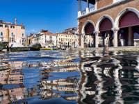 Grand Canal Marché du Rialto à Venise