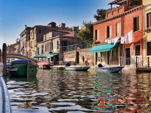 Reflets Rio de la Sensa, dans le Cannaregio à Venise.