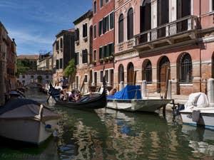 Gondole Rio delle Eremite, Fondamenta de le Romite, dans le Dorsoduro à Venise.
