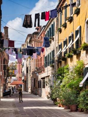 Lessive Vénitienne à Seco Marina, dans le Castello à Venise.