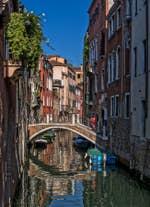 Le pont et le Rio del Malpaga à Venise
