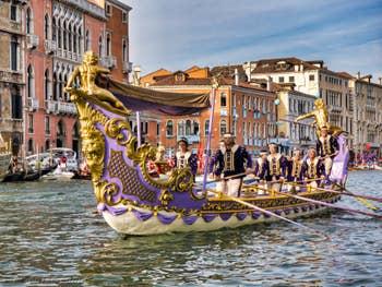 Le Cortège de la Régate Historique de Venise