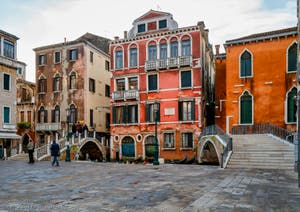 Le Campo Manin le 23 décembre 2019 dans l'après-midi, dans le Sestier de Saint-Marc à Venise.