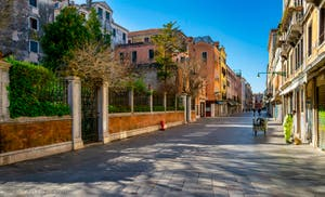 Coronavirus à Venise, la Strada Nova