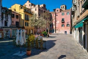 Coronavirus Covid-19 à Venise : le Campo Santa Maria Nova dans le Sestier du Cannaregio