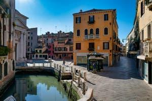 Coronavirus Covid-19 à Venise : le Campo de la Maddalena dans le Cannaregio