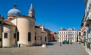 Coronavirus Covid-19 à Venise : le Campo Santa Maria Formosa dans le Castello